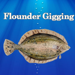 Flounder Gigging Button